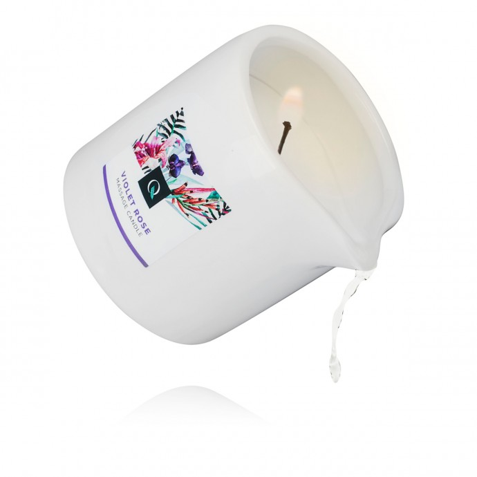 Exotiq Massage Candle Violet Rose - массажная свеча фиалка и роза, 200 мл